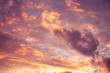 Rose-golden sunset sky with clouds