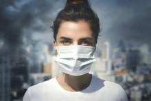 Woman Wearing Face Mask Becaus...