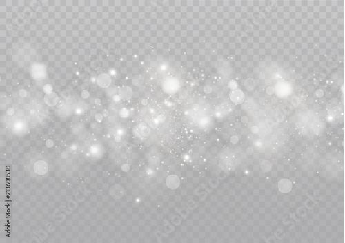 Canvastavla  White glowing light burst explosion on transparent background