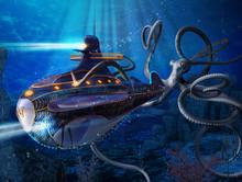 Captain Nemo Nautilus Submarin...