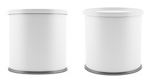 Blank Metal Tin Can With White...