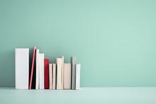 Miniature Books On A Shelf.