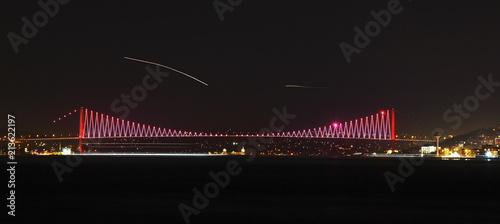 Fotografie, Obraz First Bosphorus Bridge in Istanbul. Turkey