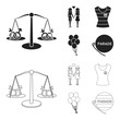 Lesbians, dress, balls, gay parade. Gay set collection icons in black,outline style vector symbol stock illustration web.