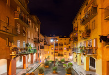 Old Town Houses In Nice City A...