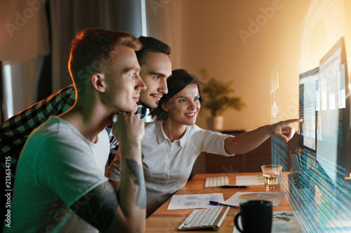 Photo  Programmers Working On Software In Office