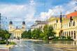 Piac street of Debrecen city, Hungary