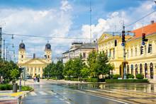 Piac Street Of Debrecen City, Hungary