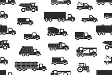 Seamless Pattern With Trucks I...