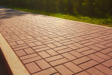 Red Cobblestone Footpath