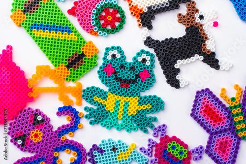Easy perled bead animals. Plakat