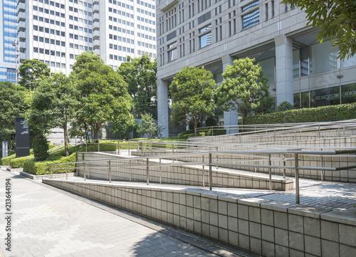 Fotografie, Obraz  車いす利用者のためのスロープ(東京都新宿区)