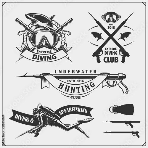 Photo Set of Scuba diving emblems