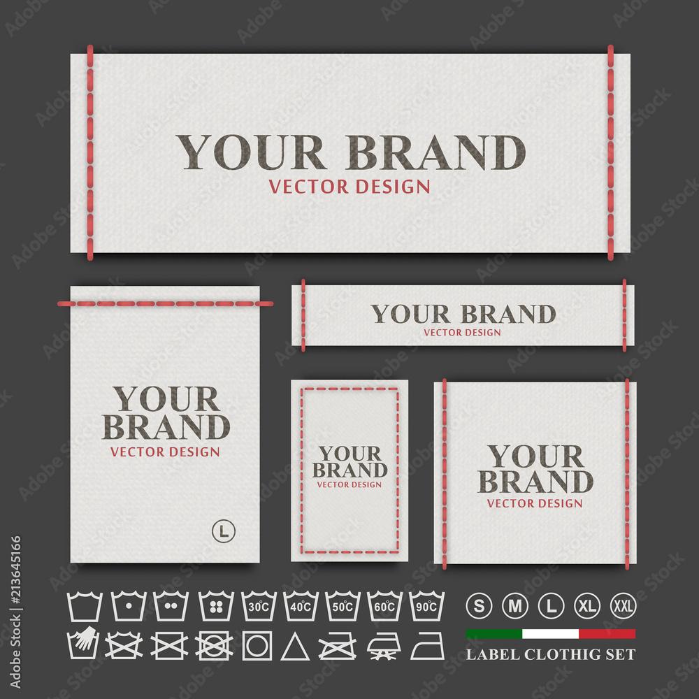 Fototapety, obrazy: Label clothing vector set