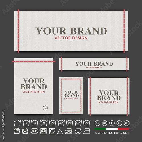 Fotografiet  Label clothing vector set