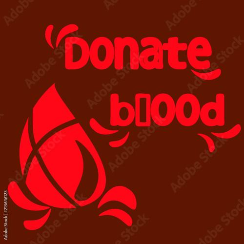 Fotografie, Obraz  Donar sangre, gota de sangre, texto, rojo.