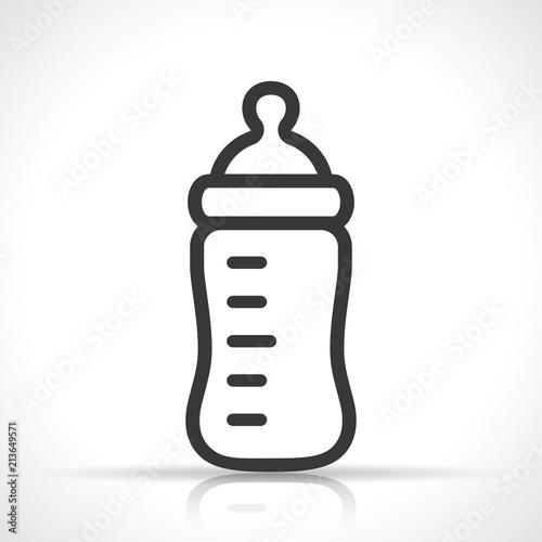 baby bottle on white background Billede på lærred