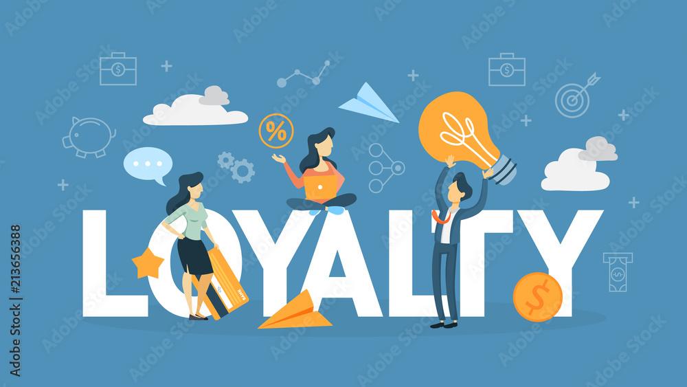 Fototapeta Customer loyalty concept illustration