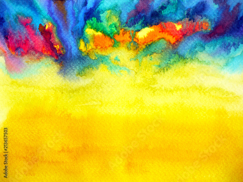 Leinwand Poster abstract art watercolor painting illustration design background hand drawing