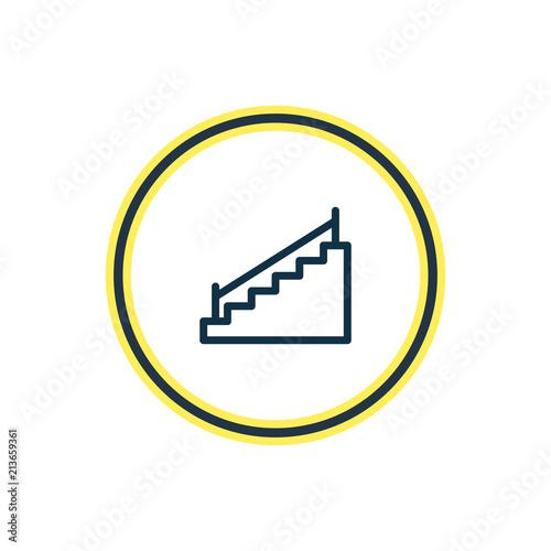 Vector Illustration Of Stairs Icon Line Beautiful Architecture