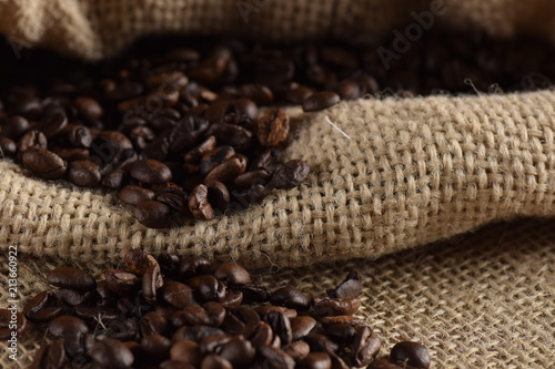 Deurstickers koffiebar grãos de café