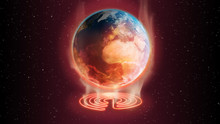 3d Illustration Global Warming Earth Concept