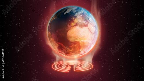 Fototapeta 3d illustration global warming earth concept obraz