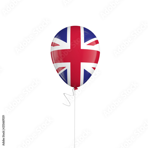 United Kingdom flag balloon on a string. 3D Rendering