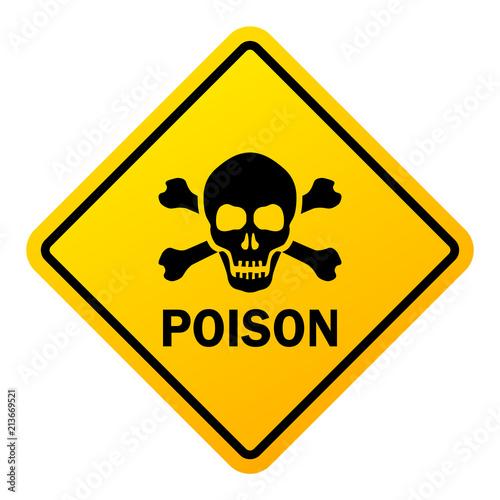Fotografia, Obraz Poison danger warning sign
