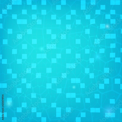 Blue ripped water, top view. Texture of water in swimming pool, flat ...