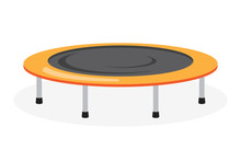 Trampoline Icon On White Backg...