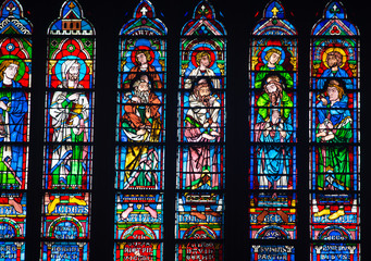 Stained Glass windows in Notre Dame, Paris
