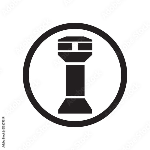 Slika na platnu Watch Tower icon vector sign and symbol isolated on white background, Watch Towe