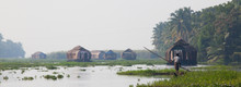 Panorama Of Houseboats On Kera...