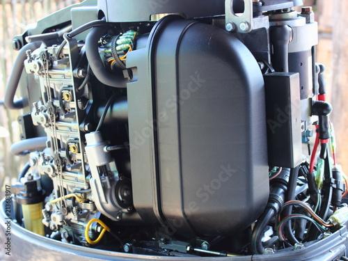 plastic silencer for outboard motor intake, carburetors and fuel filter -  petrol engine power supply