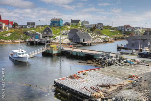 Fotografia View of Peggy's Cove, Nova Scotia, Canada
