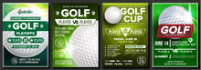 Golf Poster Set Vector. Design...