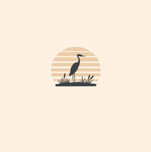 Stork  Logo Vector Illustration