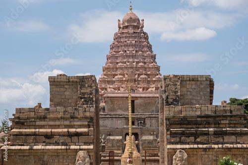 The main shrine, or Vimana, of the 11th century Brihadeeswarar temple at Gangaikondacholapuram in Tamil Nadu