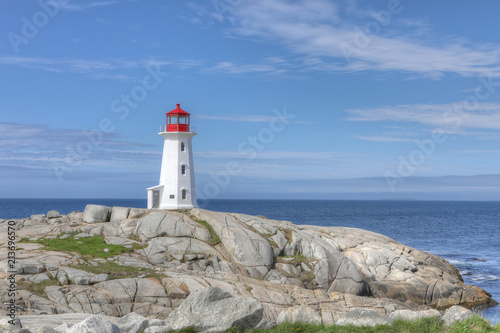 Peggy's Cove Lighthouse in Canada Fototapete