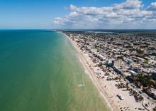 Aerial View Progreso Beach In ...