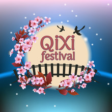 Qixi Or Tanabata Festival Vect...