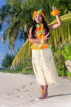 Hula Hawaii Dancer Dancing On ...