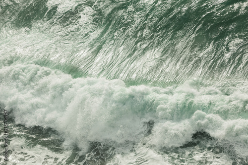 Spoed Foto op Canvas Water High angle view of waves splashing in sea