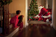 Peeking At Santa