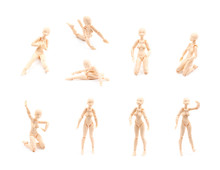 Plastic Joint Reference Doll Isolated