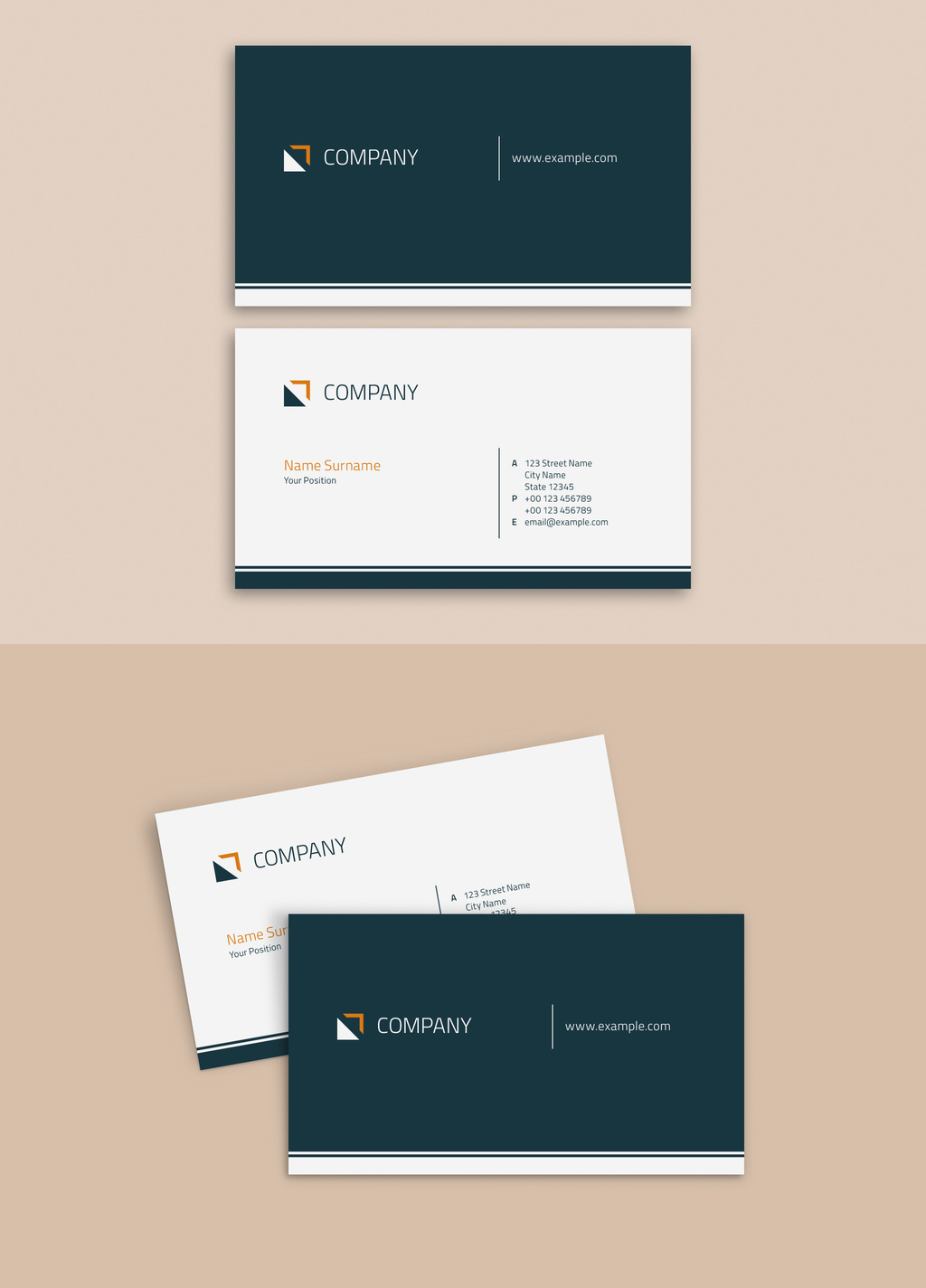 Business Card Template AI