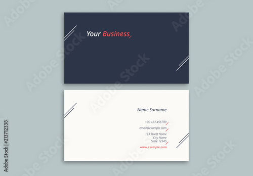 Minimalist Business Card Layout Buy This Stock Template And Explore