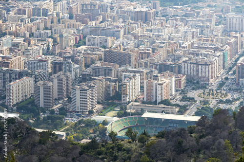 Foto op Canvas Palermo Aerial view of Palermo city, Sicily, Italy