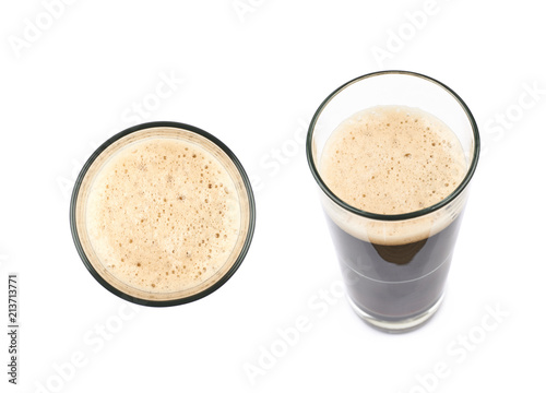 Fototapeta Glass of dark beer isolated